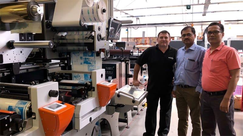 India's largest flexible packaging convertor Uflex, purchases Edale 10 Colour FL3 Flexo Press