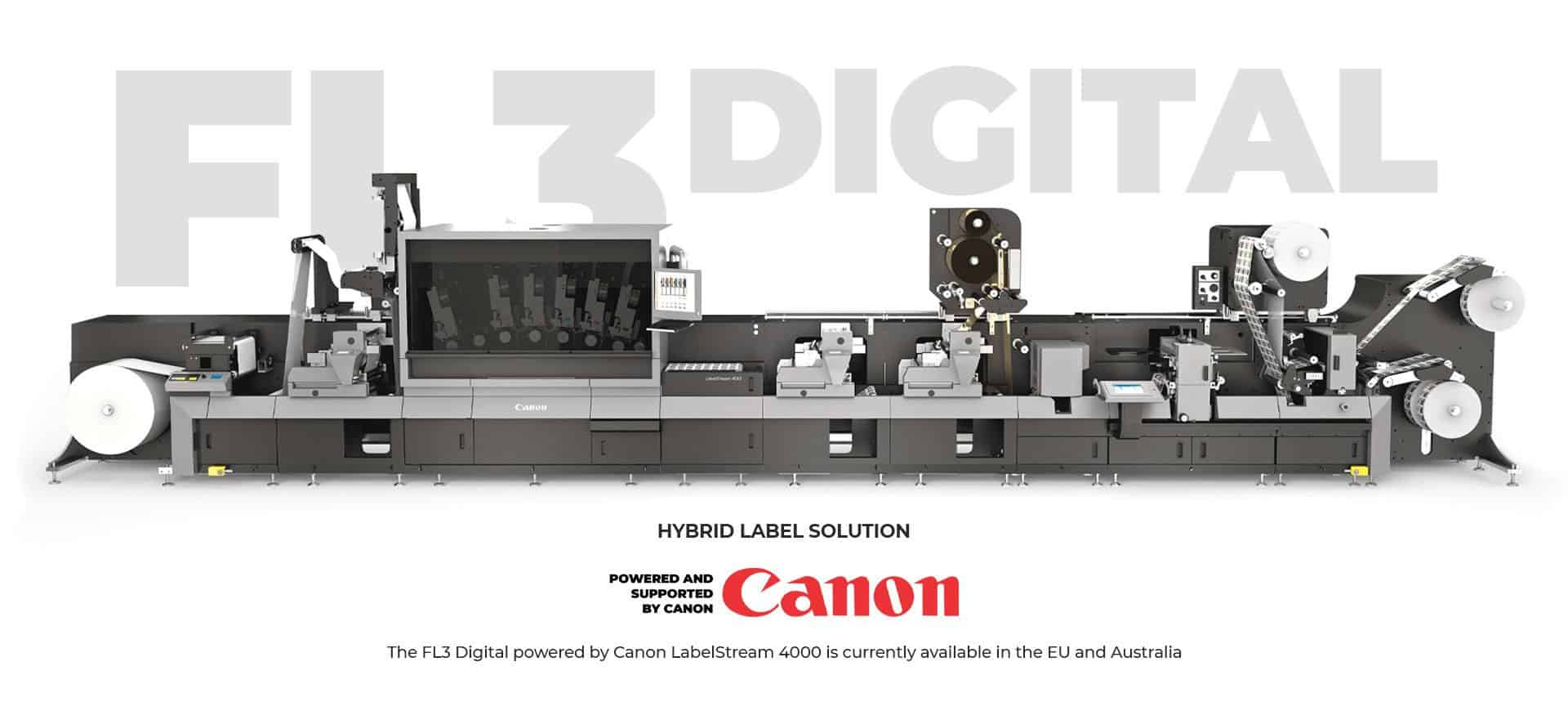 FL3 Digital - POWERED AND SUPPORTED BY CANON-Best Label Production Machine